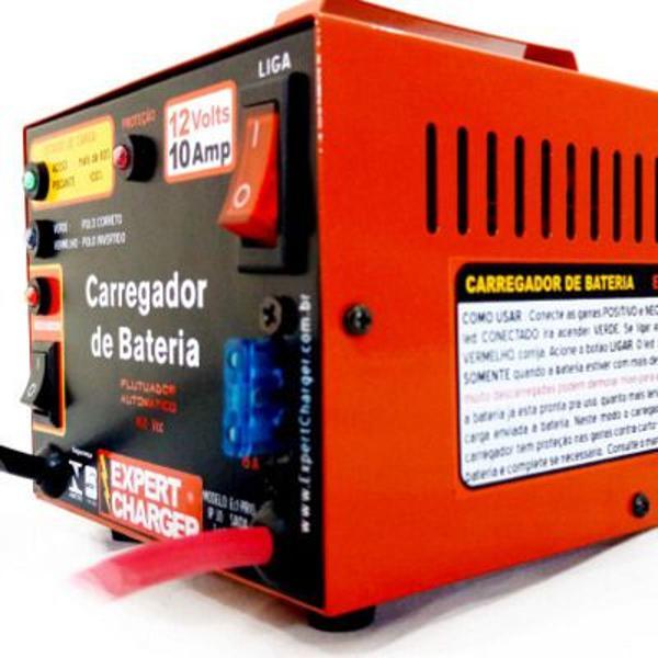 Carregador de bateria 12 volts -10 amp automático