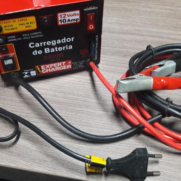Carregador de bateria 12v para motos e carro - carrega 10
