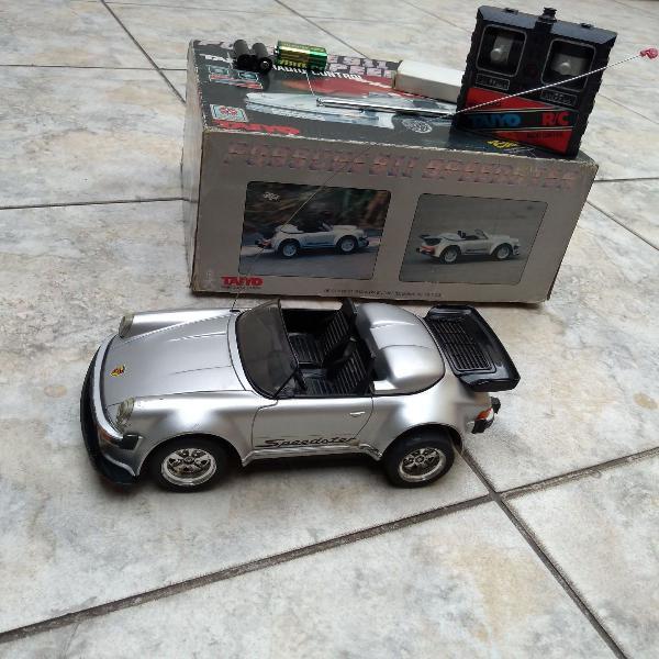 Carro de controle remoto porsche speedster 911 tyco/taiyo