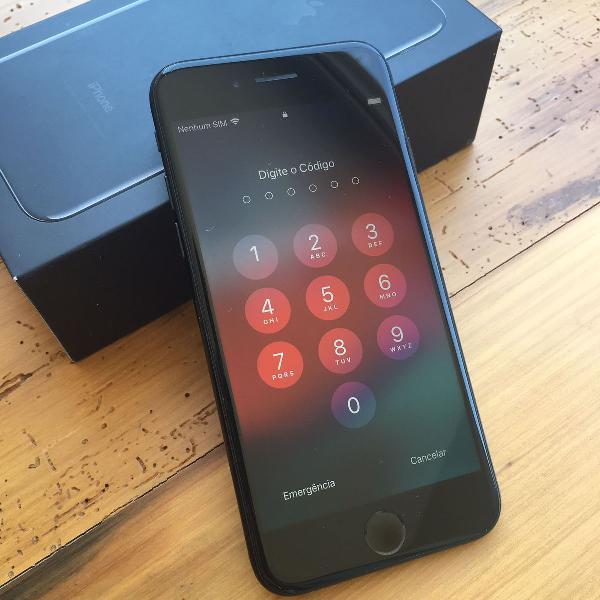 Iphone 7 jet black 256gb muito novo!!!
