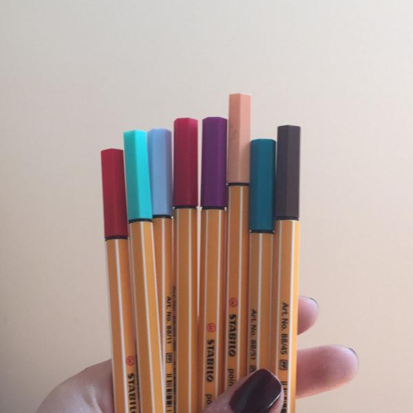 kit canetas stabilo