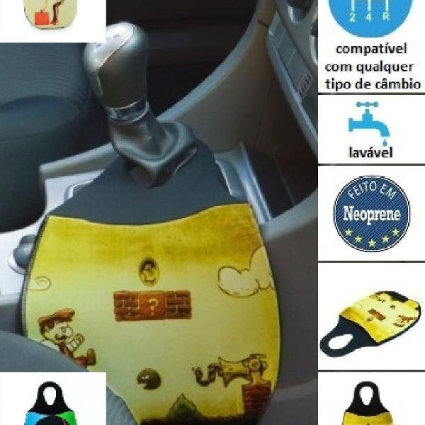 Lixeira de neoprene para carro diversas estampas escolha a