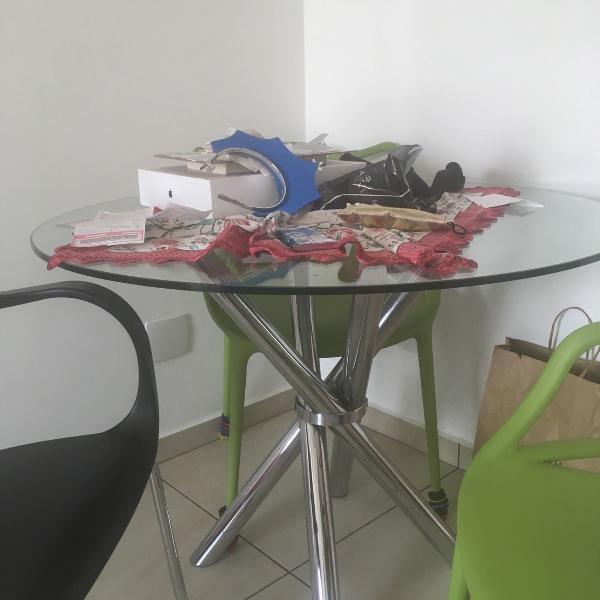Mesa de jantar redondas (1m)