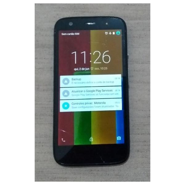 Motorola xt1032 tela trincada e sem a tampa traseira