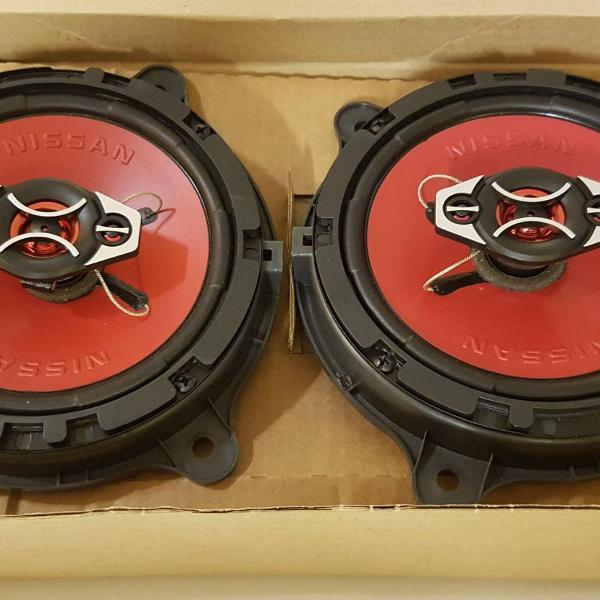 Novo par alto falantes 6,5' 65w original nissan march + kit