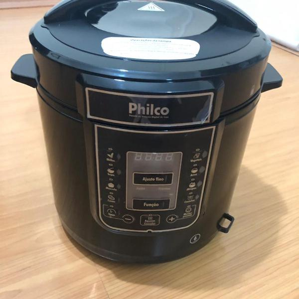 Panela elétrica de pressão philco digital 6l inox/preto