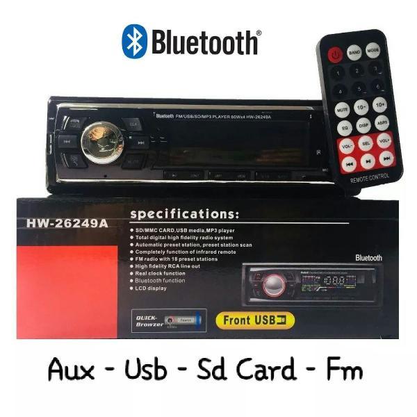 Som automotivo mp3 player bluetooth aux usb sd card fm novo