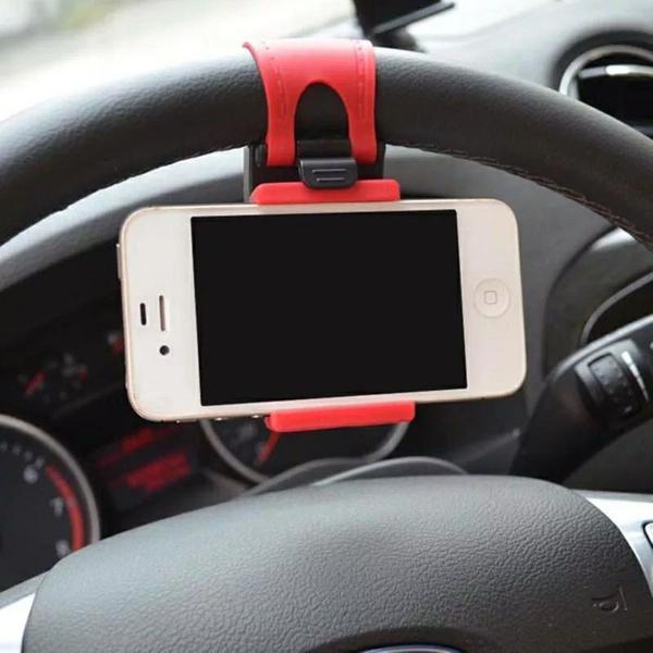 Suporte celular volante veicular gps smartphone iphone.