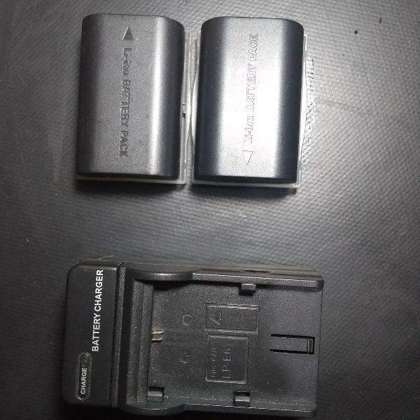 2 bateria lp-e6 canon + carregador