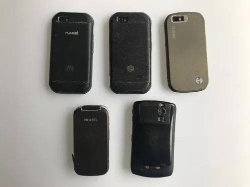 5 telefones celulares nextel no estado conforme fotos
