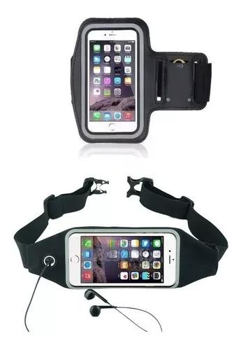 Armband braçadeira porta celular + pochete fitness acad
