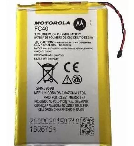Bateria moto g3 geração 3 xt1543 xt1544 - fc40 original