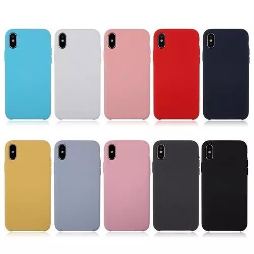Capa silicone iphone 5/se/6/7/8/x/plus/xr/max + pelicula 5d