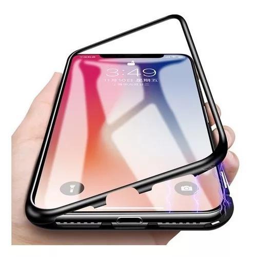Capinha case metal vidro magnética celular iphone xs max