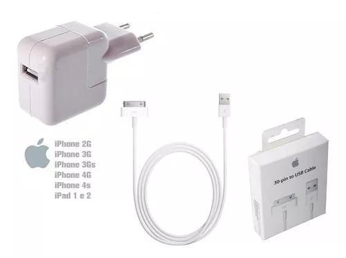 Carregador cabo usb original apple iphone 4g 3g ipad 1 2