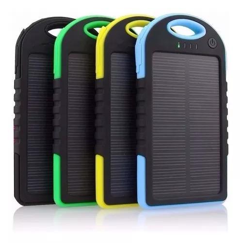 Carregador celular solar usb portátil prova dágua power