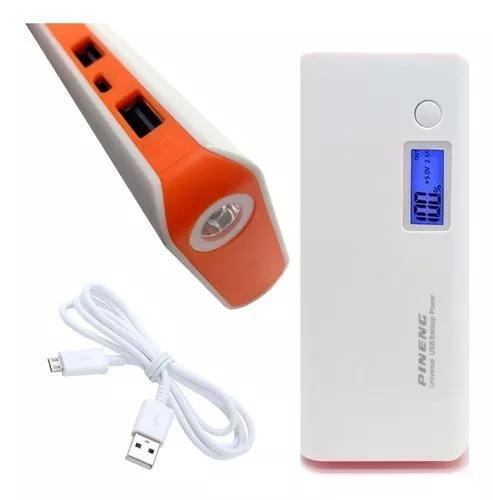Carregador portátil celular 10000mah pn 2 usb power bank