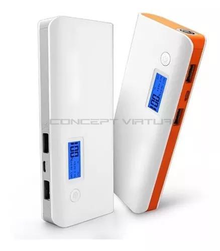 Carregador portátil power bank bateria extra usb cabo - nf