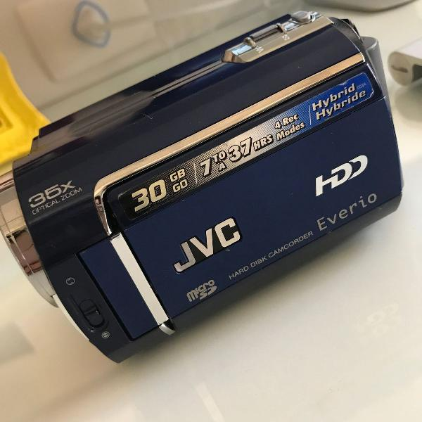 Filmadora jvc everio - hard disc 30gb / micro sd