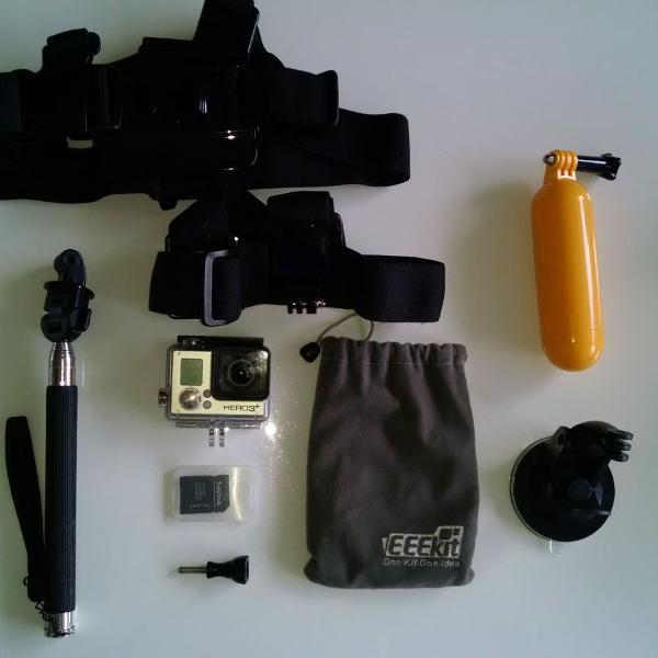Gopro hero 3+ silver com kit