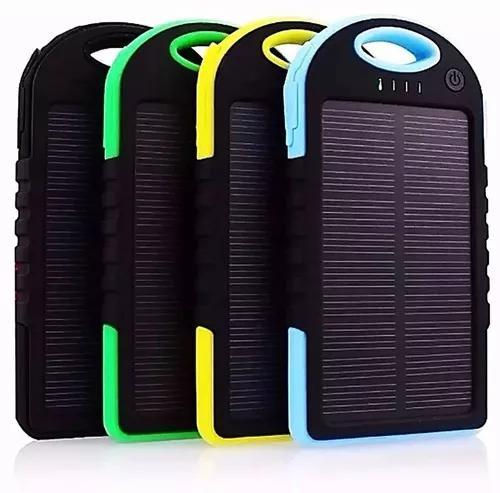 Kit 5 carregador power bank solar prova d'água universal
