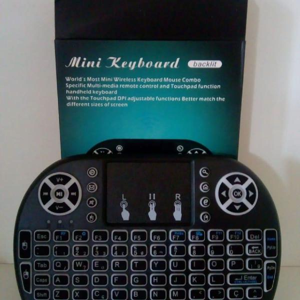 Mini teclado keyboard wireless para pc, android e celular
