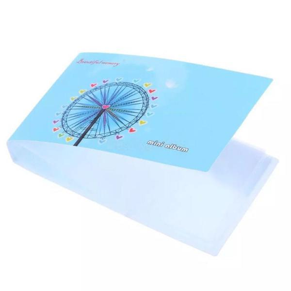 Mini álbum para instax polaroid azul roda gigante 24 fotos