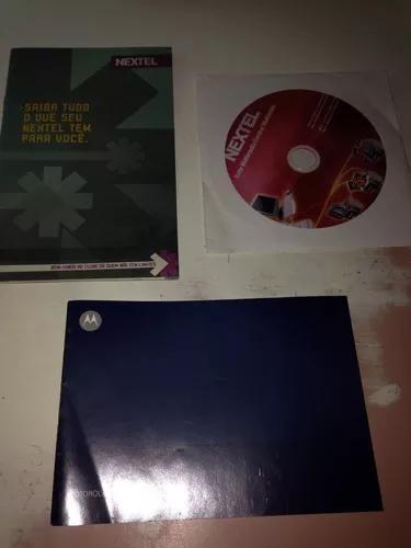 Motorola i1 manual mais cd e manual nextel r$6,99