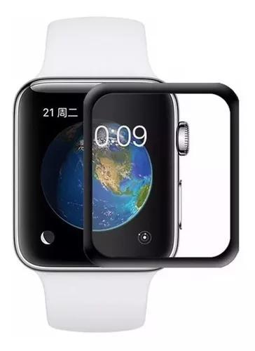 Película vidro 3d borda preta p/ apple watch 44mm ou 40mm