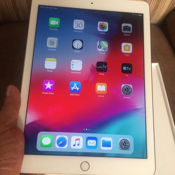 Apple ipad air 2 ouro, 4g, na caixa, perfeito, modelo a1567