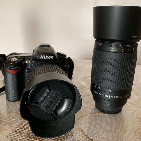 Camara digital nikon d90 e 2 lentes 105 e 300mm