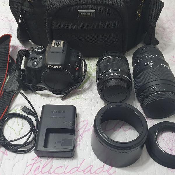 Camera canon rebel sl1 completa + lente sigma dg 70-300