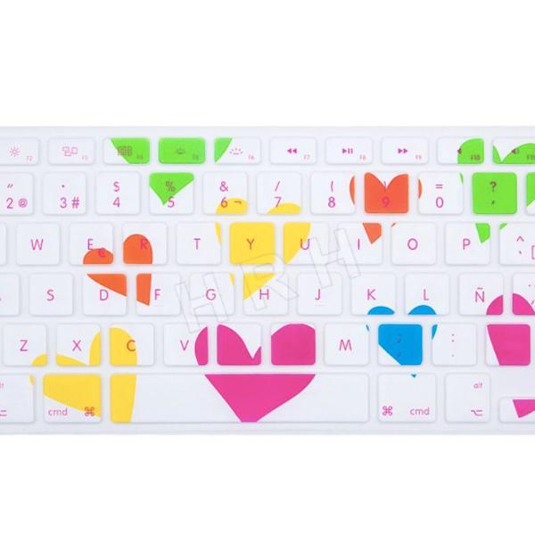 Capa teclado macbook pro air corações amor top promoção