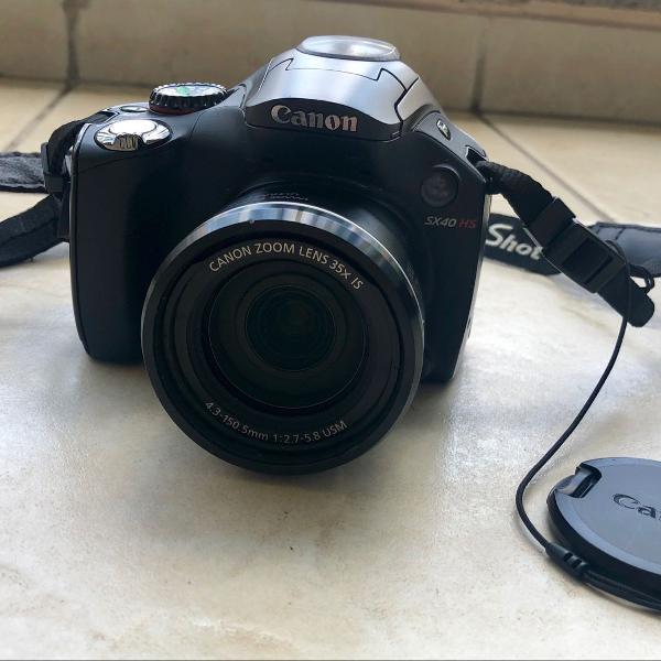 Câmera cânon sx40 hs