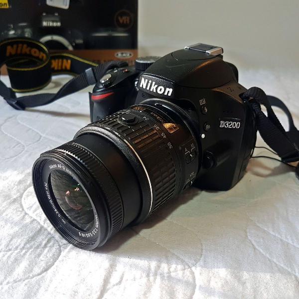 Câmera digital nikon d3200 af-s dx nikkor lente