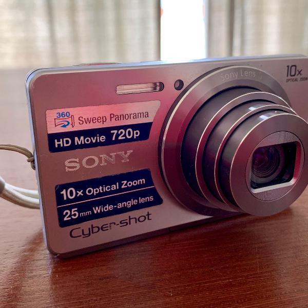 Câmera digital sony cyber-shot 16,1mp prata