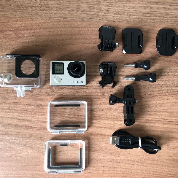 Câmera filmadora go pro gero 4 silver com tela lcd