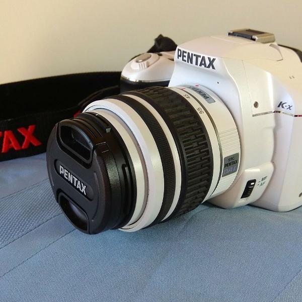 Câmera fotográfica digital pentax k_x slr branca