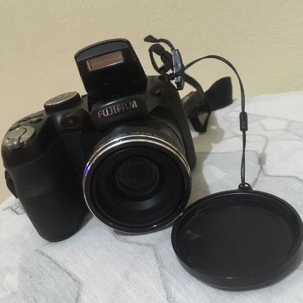 Câmera fujifilm finepix preto com lcd , zoom óptico