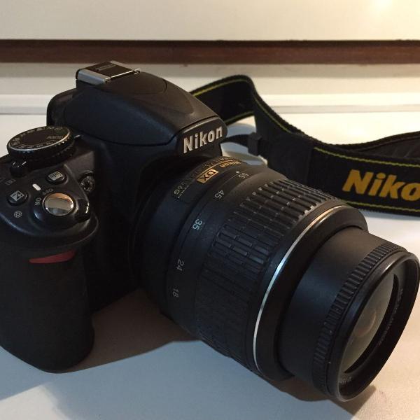 Câmera profissional nikon d3100 dslr
