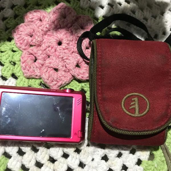 Câmera rosa da samsung, touch