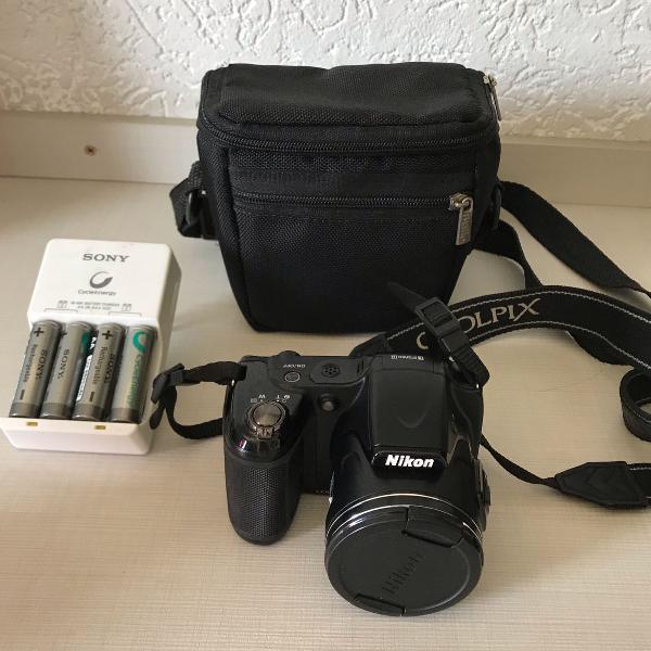 Câmera semi profissional nikon coolpix l820