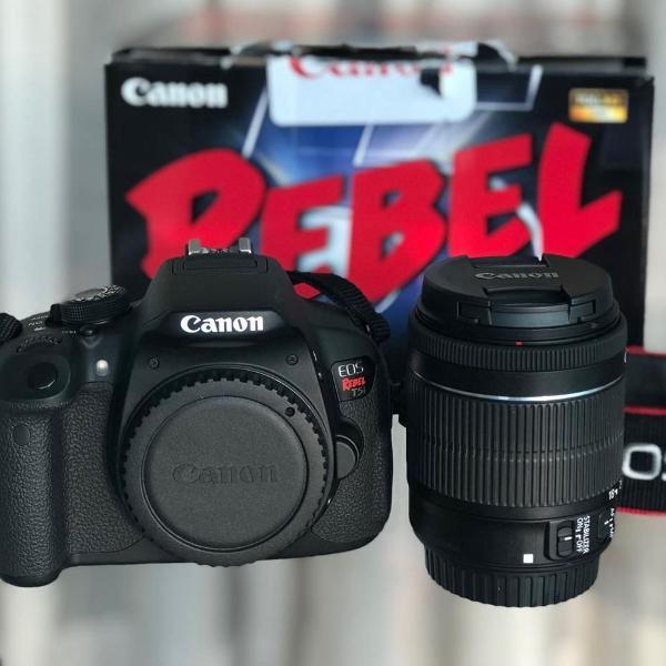 Kit câmera fotográfica canon eos rebel t5i + 2 lentes