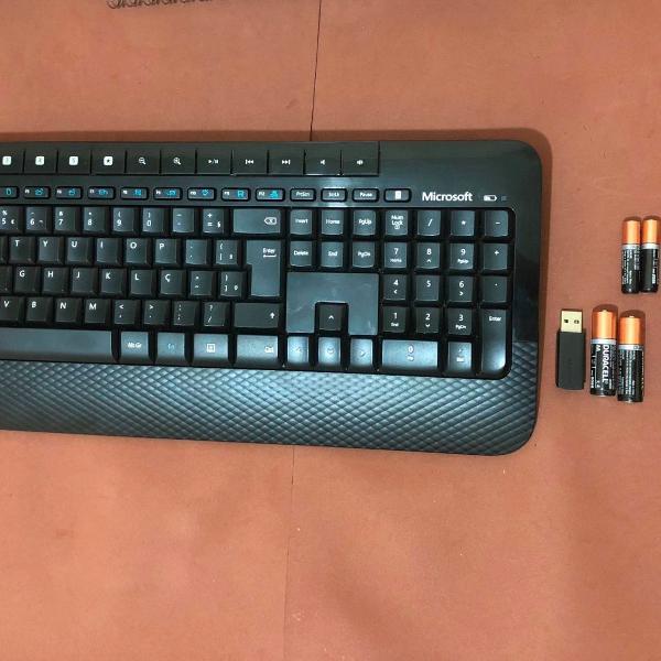 Kit teclado e mouse wireless desktop 2000 microsoft
