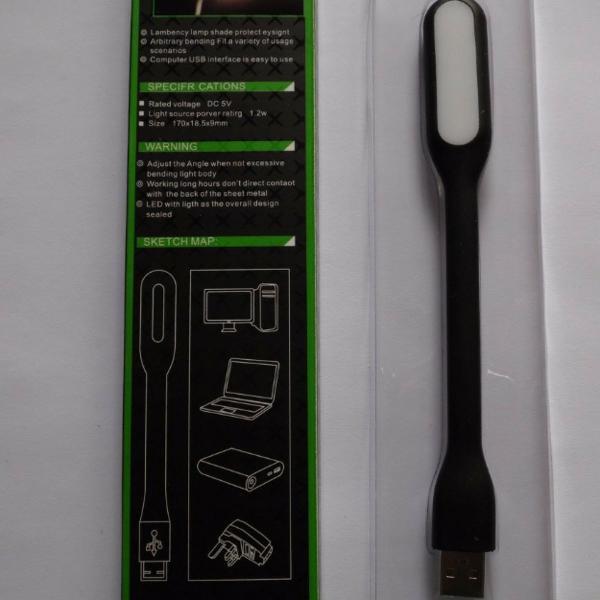 Lanterna flexível portátil usb