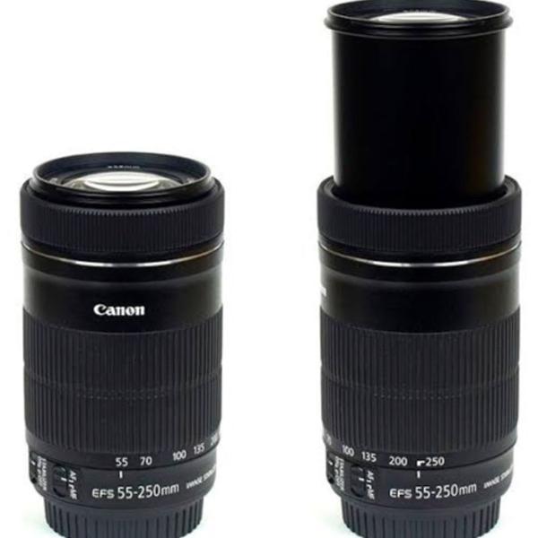 Lente cânon 55-250 mm