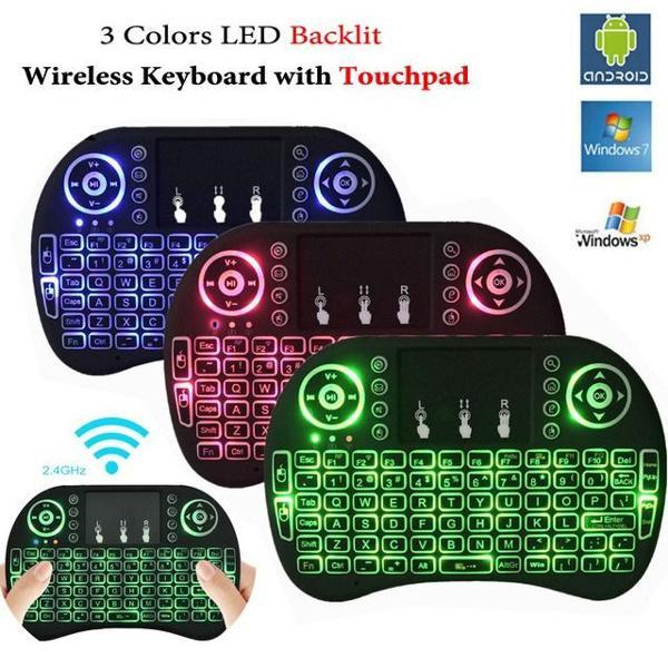Mini teclado luz wireless keyboard mouse smart tv samsung lg