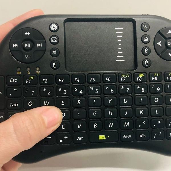 Mini teclado wireless touch para smart tv