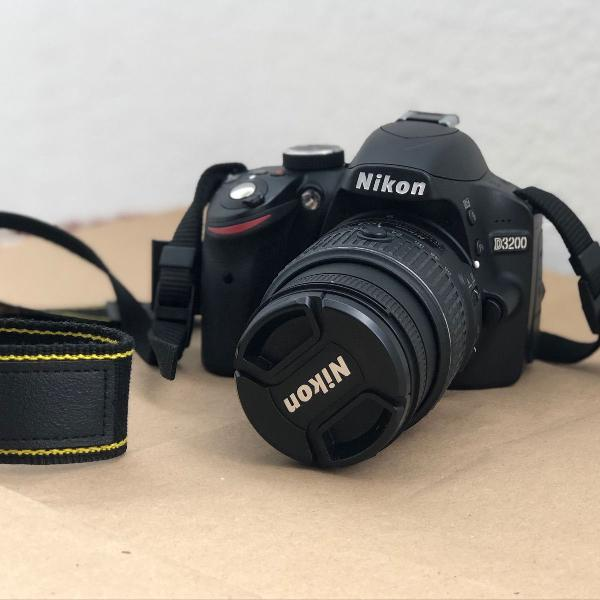 Nikon d3200 novinha completa - câmera fotográfica