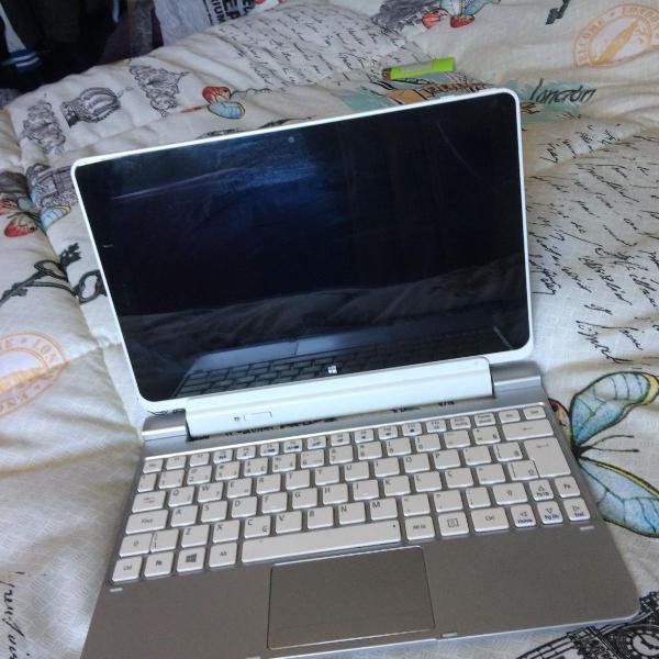 Notebook 2 em 1 (tablet + note) acer - funcionando